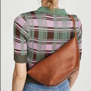 NWT Madewell the leather sling bag English saddle